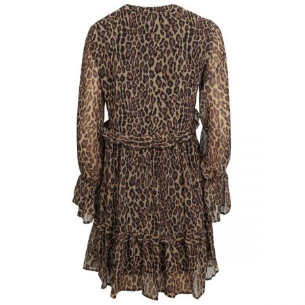 NA-KD Leopard Print Ruffled haljina