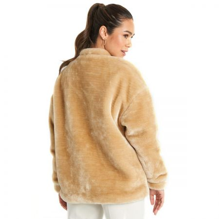 NA-KD Short Front Pocket Faux Fur jakna
