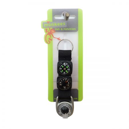 LED MULITPORPOSE KEY FOB, COMPASS&THERMOMETER