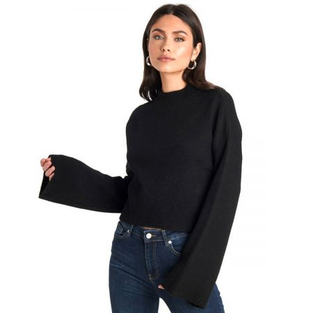 NA-KD Wide Sleeve Round Neck Knitted džemper