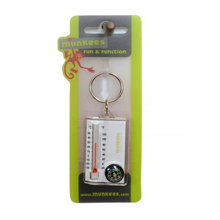 Munkees Thermometer Compass privezak