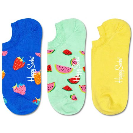 Happy Socks 3-Pack Fruit No Show čarape