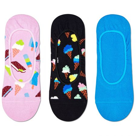 Happy Socks 3-Pack Ice Cream Liner čarape