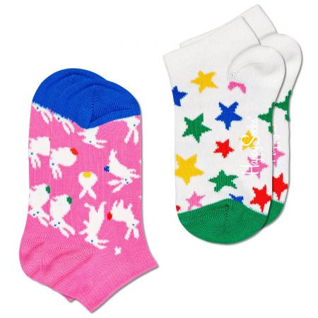 Happy Socks 2-Pack Kids Bunny Low čarape