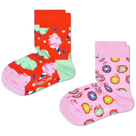 Happy Socks 2-Pack Kids Cotton Candy čarape