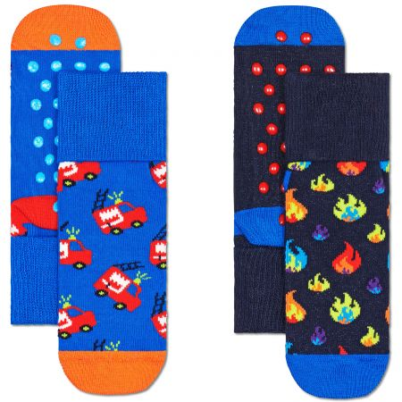Happy Socks 2-Pack Kids Firetruck čarape