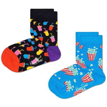 Happy Socks 2-Pack Kids Snack čarape