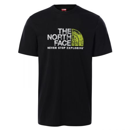 M S/S RUST 2 TEE TNF BLACK/TNF WHITE