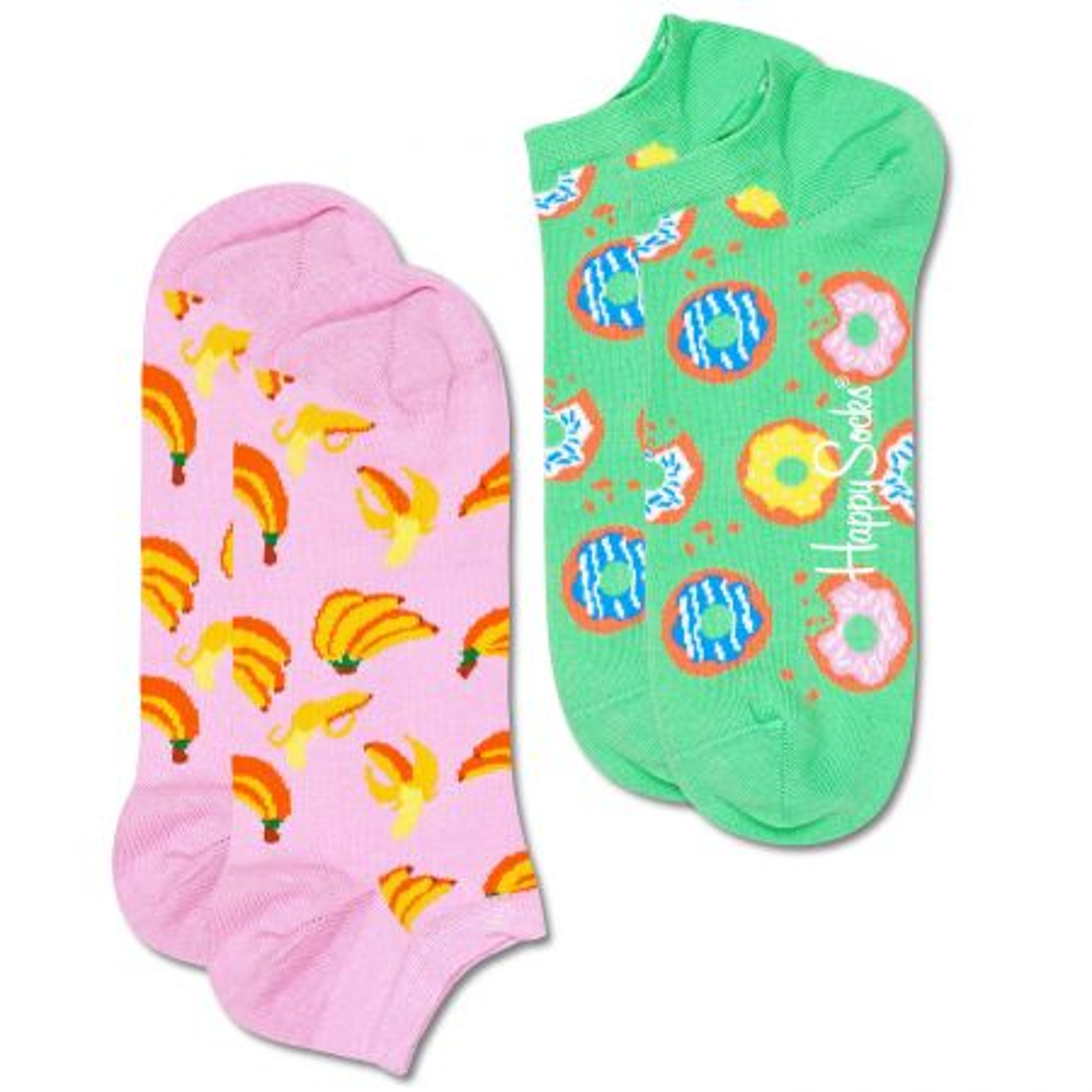 Happy Socks 2-Pack Snack Low čarape
