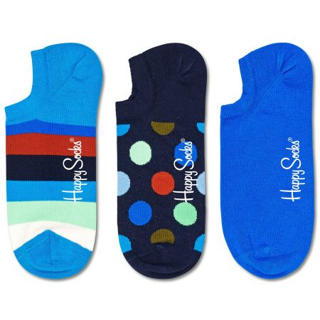 Happy Socks 3-Pack Stripe No Show čarape