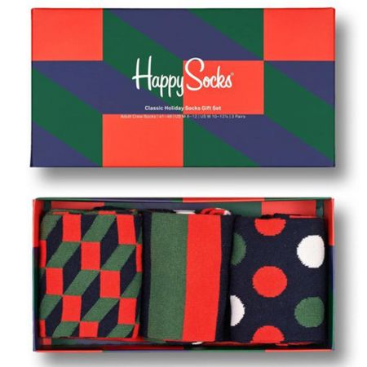 Happy Socks 3-Pack Classic Holiday čarape