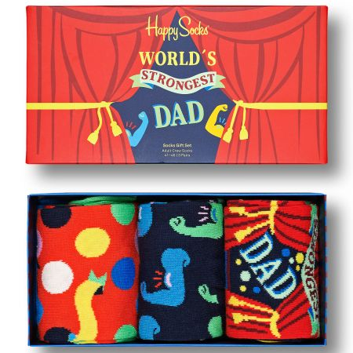 Happy Socks 3-Pack Father´s Day Socks Gift Set čarape