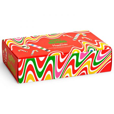 Happy Socks 4-Pack Psychedelic Candy Cane Gift Set